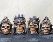 Small Skull LATEX CHESS MOULDS/Molds (9)
