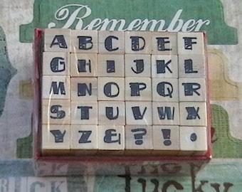 Alphabet Rubber Stamp Set  Uppercase Studio G  Set 17