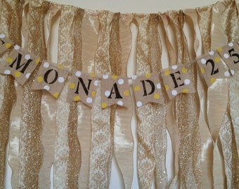 Lemonade Custom Burlap Banner