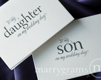 Wedding Card to Your Son and Daughter - Children of the Bride or Groom Cards - Child, Kid Wedding Day Note Card Gift Keepsake - CS08