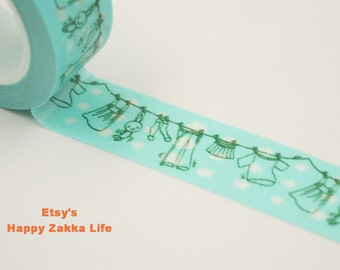 Laundry - Japanese Washi Masking Tape - 11 Yards