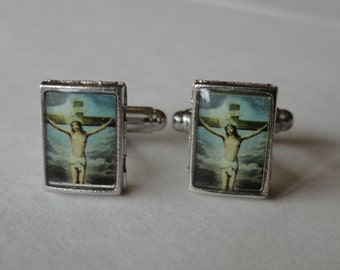 "Jesus Christ Cufflinks ""The Crucifixion"""