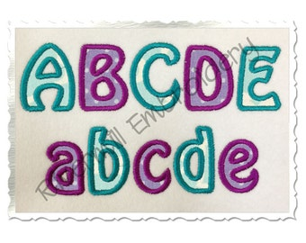 Small 1 1/2 Inch Hobo Applique Machine Embroidery Font Alphabet