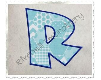 Large Cricket Applique Machine Embroidery Font Monogram Alphabet - 3 Sizes