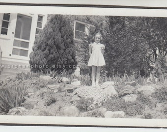 Vintage/Antique beautiful photo of a cute little girl in an adorable dress