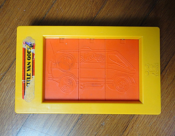 Little Van Goes Rubbing Plates Drawing Kit By Tomy