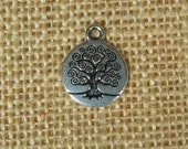 Tree of Life Charm - TierraCast - Antique Silver - Choose Your Quantity