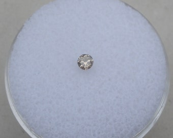 2.5mm Champagne diamond loose round 0.08 carats
