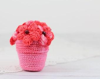 Popular items for crochet flower pot on Etsy