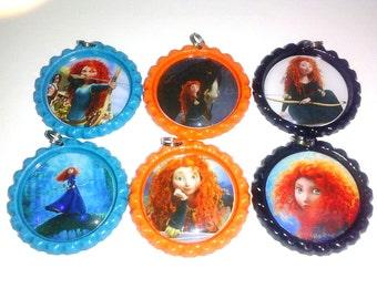 bottle cap necklace party favor disney brave merida
