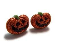 Pumpkin Jack-o-Lantern Halloween Earrings