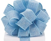 """4yds,29"""" Baby Blue BURLAP 1-1/2"""" Wired Wire Edge Ribbon (Free Shipping!)"""