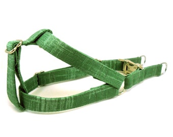 Green Tea Dog Step in Harness