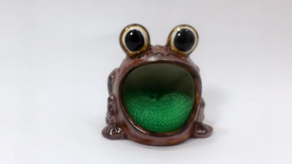 Frog sponge or scrubber holder for the kitchen sink by stickmen - Frog sponge holder kitchen sink ...