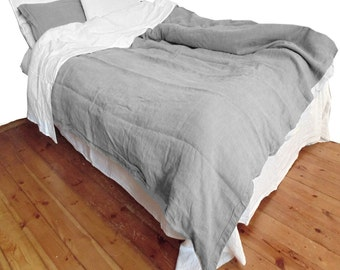 Quilt Doona Cover Taupe Gray color pure Linen Flax - Washed Softened Lightweight - Single Double Queen King - Australian size