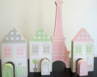 Four piece French Village playset - contemporary style