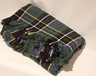 Vintage Plaid Knit Blanket // Throw // Afghan by The Northwest Company