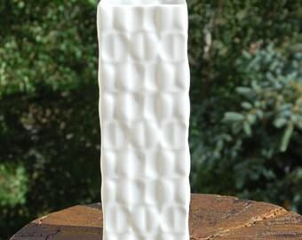 OP Art Vase Bavaria Germany Lichtenburg Porcelain White