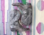 Men's Cowboy Boots / Black Label Tony Lama Boots / Vintage Leather Western Shoes Size 11 D
