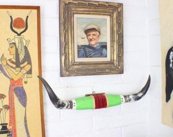 Vintage Horns Southwest Mounted Cow / Bull / Steer Horns / Wall Art