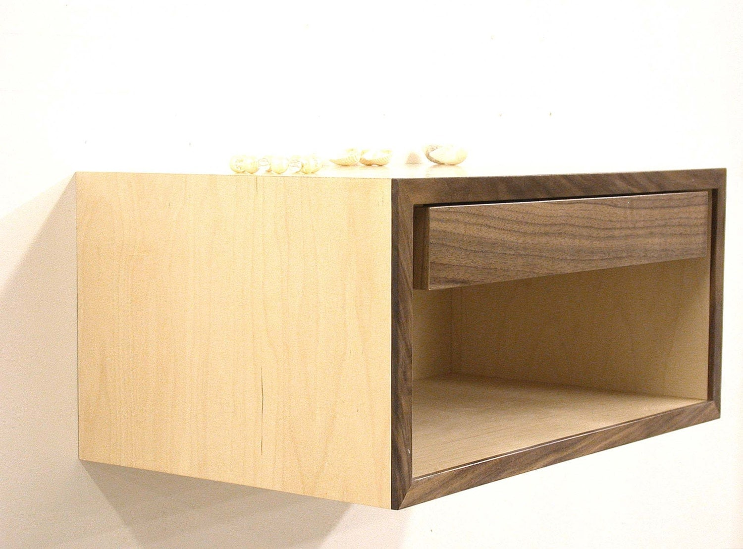 Floating nightstand wall shelf bedside table by dldesignworks for Bedside table shelf