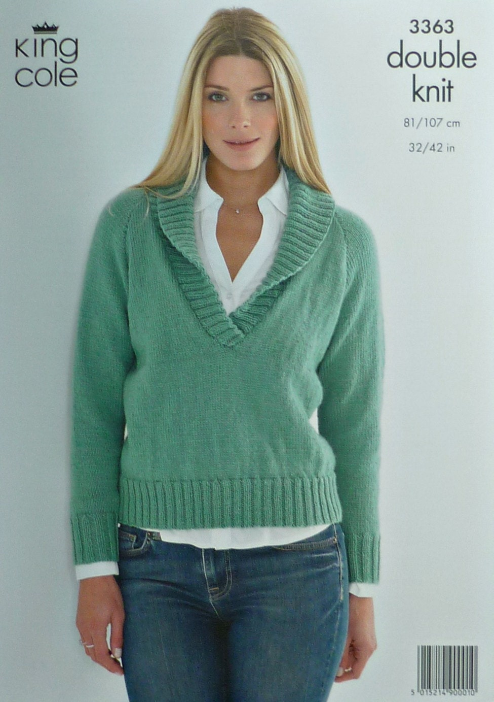Knitting Pattern Ladies V Neck Jumper : Womens Knitting Pattern K3363 Ladies Long Sleeve V-Neck Jumper