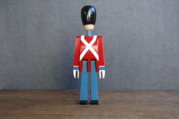 Mid Century Modern Kay Bojesen Wooden Soldier - Danish Modern Wooden Toy Figurine