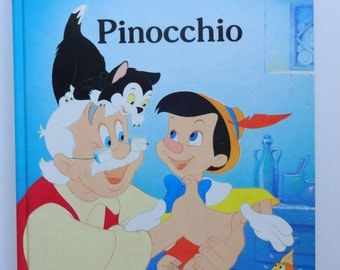 Vintage Walt Disney's Pinocchio Hardback Children's Book 1986