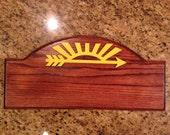 Cub Scout Arrow of Light Award Oak Plaque #3 plain