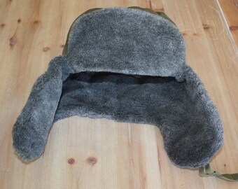 Gift for Kids / Wool Ear Flap Hat // Size Small Winter Hat // Ushanka Military Hat from Czech