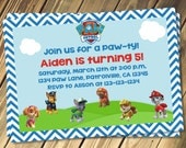 Paw Patrol Birthday Party Invitation Print Your Own