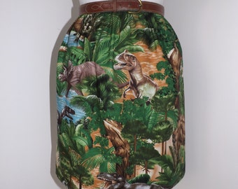 Handmade dinosaur skirt high waisted waist among trees dino print
