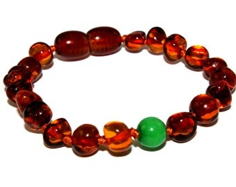 NATURAL BALTIC AMBER Teething Bracelet or Anklet for Baby or Child with Certificates of Authenticity