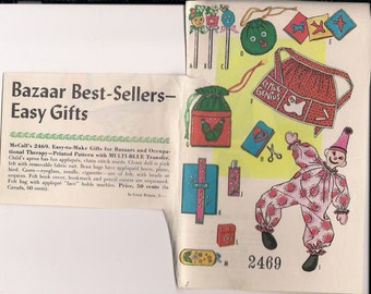 1960's Sewing Pattern McCall's 2469 UNCUT Bazaar Best-Sellers & Easy Gifts crafts