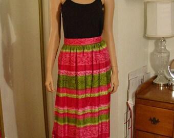 MOD Groovy Hippie BoHo Wrap Maxi Skirt  size S to M - Tall
