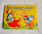 Brer Rabbits Party Popup  Book  Vintage Picture book  Hard Back