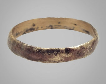 Ancient Viking Mans  Wedding Band Jewelry C.866-1067A.D. Size 8 3/4 (18.3mm) (Brr238)