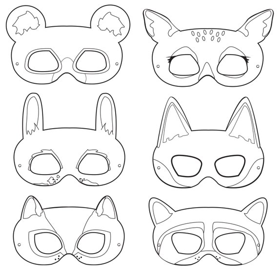 Hilaire image regarding free printable animal masks