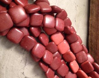Exclusive Minnesota Pipestone 14mmx14mm Beads (Catlinite)