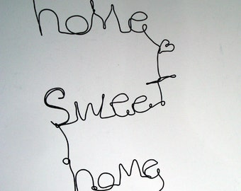 HOME sweet HOME - Wire Word Hanging Sculpture.