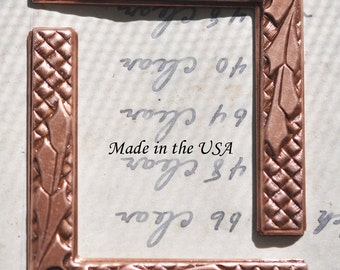 Scrapbooking Brass Corners with Nature Motif, TWO, Copper Ox