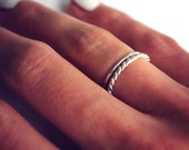 Stacking rings made from Sterling Silver, knuckle rings - set of two silver rings