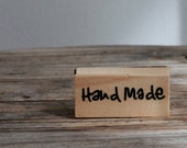 Wooden Rubber  Stamp - Hand Made