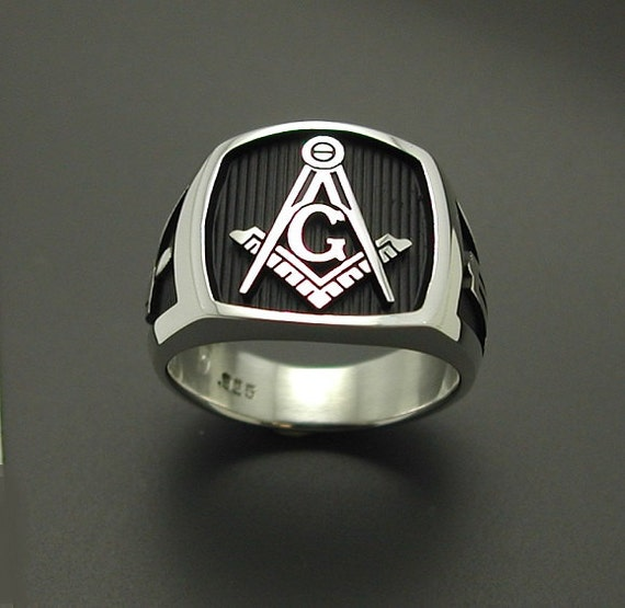masonic ring 925 sterling silver original by prolinedesigns
