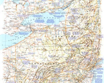 Vintage Map 1983 Atlantic Gateways Hard to find 15 x 20