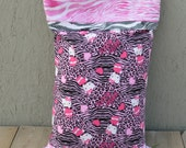 HELLO KITTY  Travel size Flannel pillow case