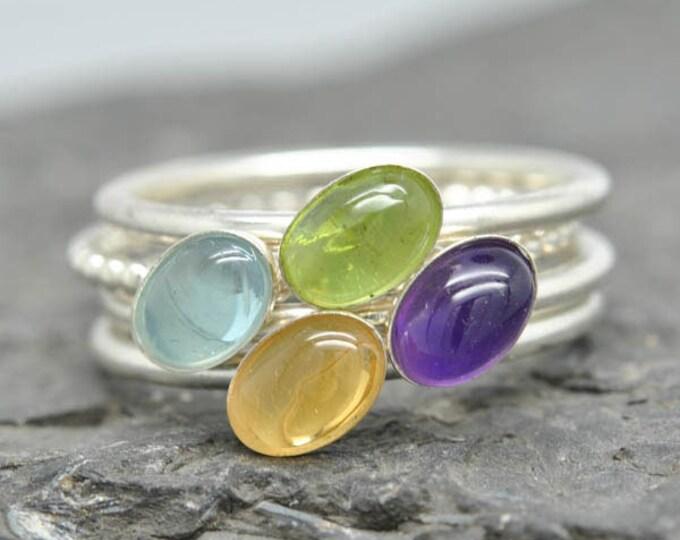 Citrine ring, november, birthstone ring, oval, gemstone ring, birthstone ring, sterling silver ring, bezel set, stackable ring