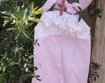 Pink and white lace romper great for photoprop,summer,beach,easter,birthdays