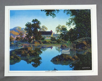 Vintage 1970's Maxfield Parrish Evening Shadows Canvas Print