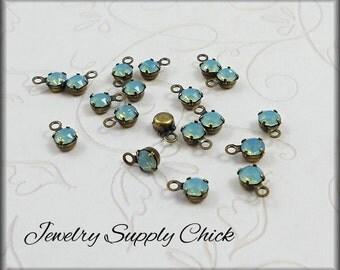 Pacific Opal crystal 4mm drop (x12)